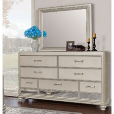 7 Drawer Dresser with Mirror by BestMasterFurniture