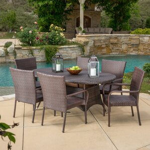 Barney 7 Piece Dining Set  Patio Dining Furniture