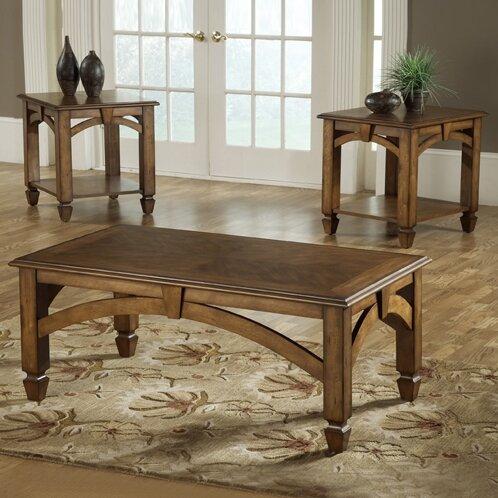 bernards arch design 3 piece coffee table set & reviews | wayfair