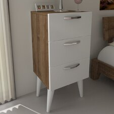 Audrey 3 Drawer Nightstand by Langley Street