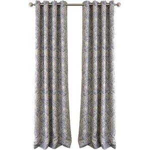 Great Whitley Julianne Damask Blackout Grommet Single Curtain Panel