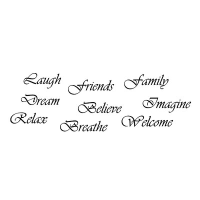 FiresideHome Inspirations Word Believe Dream Family Imagine - Wall decals relax