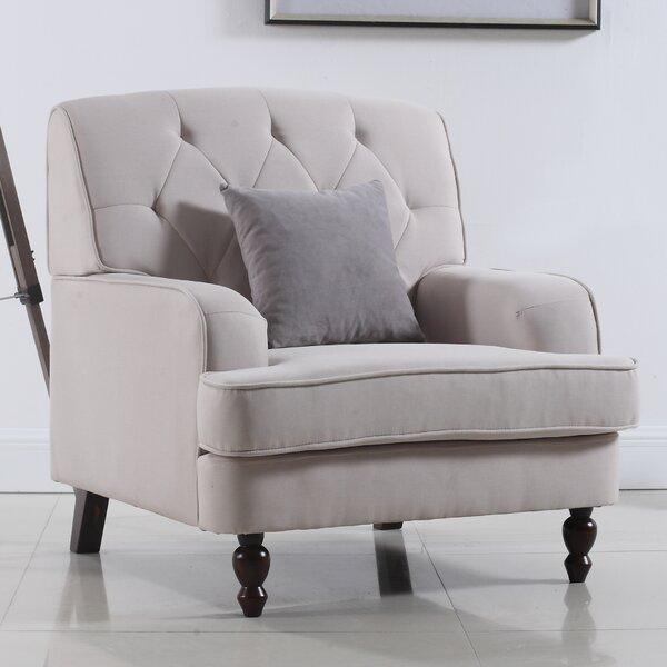 Madison Home USA Modern Tufted Fabric Living Room Armchair U0026 Reviews |  Wayfair