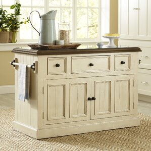 rustic kitchen islands & carts - kitchen & dining furniture | wayfair