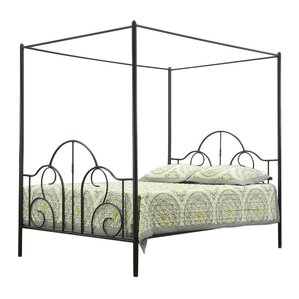 baxton studio queen canopy bed - Metal Canopy Bed Frame