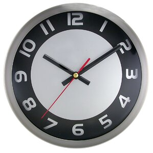brushed 9 wall clock. beautiful ideas. Home Design Ideas