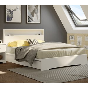 basic queen storage platform bed - Queen Bed Frames With Drawers