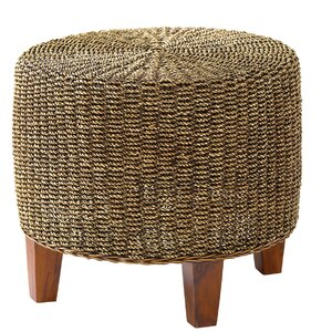Round Seagrass End Table by Ibolili