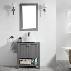 Modena 28u201d Single Bathroom Vanity Set With Mirror