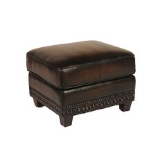 Leather Ottoman by Lazzaro Leather