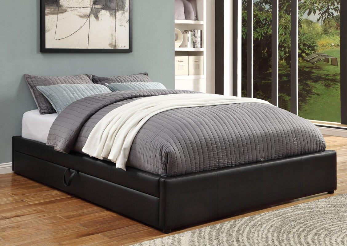 Upholstered platform bed with storage - Default_name