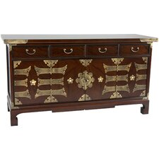 Korean 4 Drawer Coffee Table Low Chest by Oriental Furniture