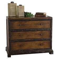 Rishi 3 Drawer Chest in Hickory by Uttermost