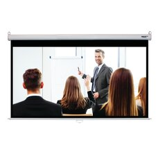 Matte White 100 Diagonal Manual Projection Screen by Hamilton Buhl