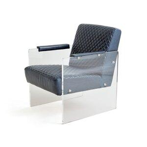 Bettine Leather Armchair by Orren Ellis