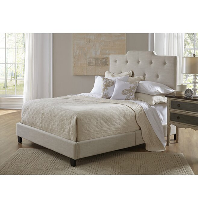 default_name - Queen Upholstered Bed Frame