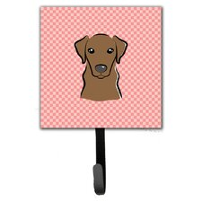 Checkerboard Labrador Leash Holder and Wall Hook by Caroline's Treasures