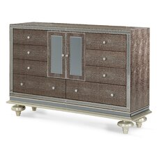 Hollywood Swank 9 Drawer Combo Dresser by Michael Amini (AICO)