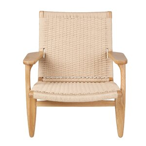Azemmour Woven Armchair by Bungalow Rose
