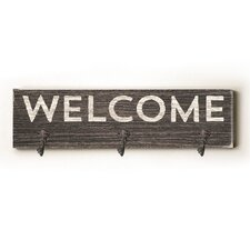 Welcome Solid Wood Wall Mounted Coat Rack by Union Rustic