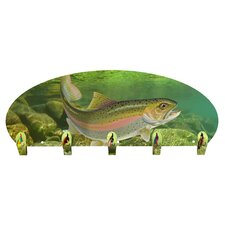 Rainbow Trout 5 Hook Wall Mounted Coat Rack by Next Innovations