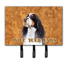 Springer Spaniel Wipe Your Paws Leash Holder and Key Hook by Caroline's Treasures