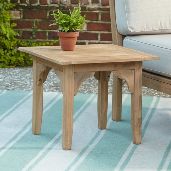 birch lane™ summerton teak side table & reviews | wayfair