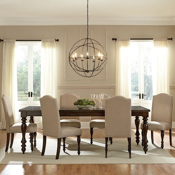 wholesale interiors baxton studio 7 piece dining set & reviews