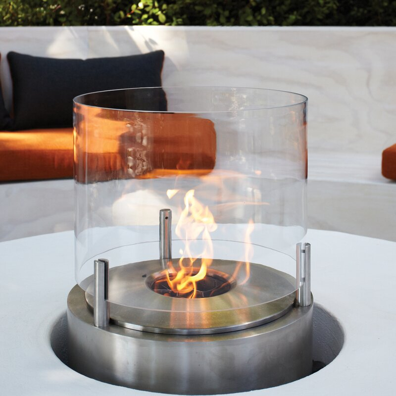 EcoSmart Fire Cyl Bio Ethanol Tabletop Fireplace Wayfair
