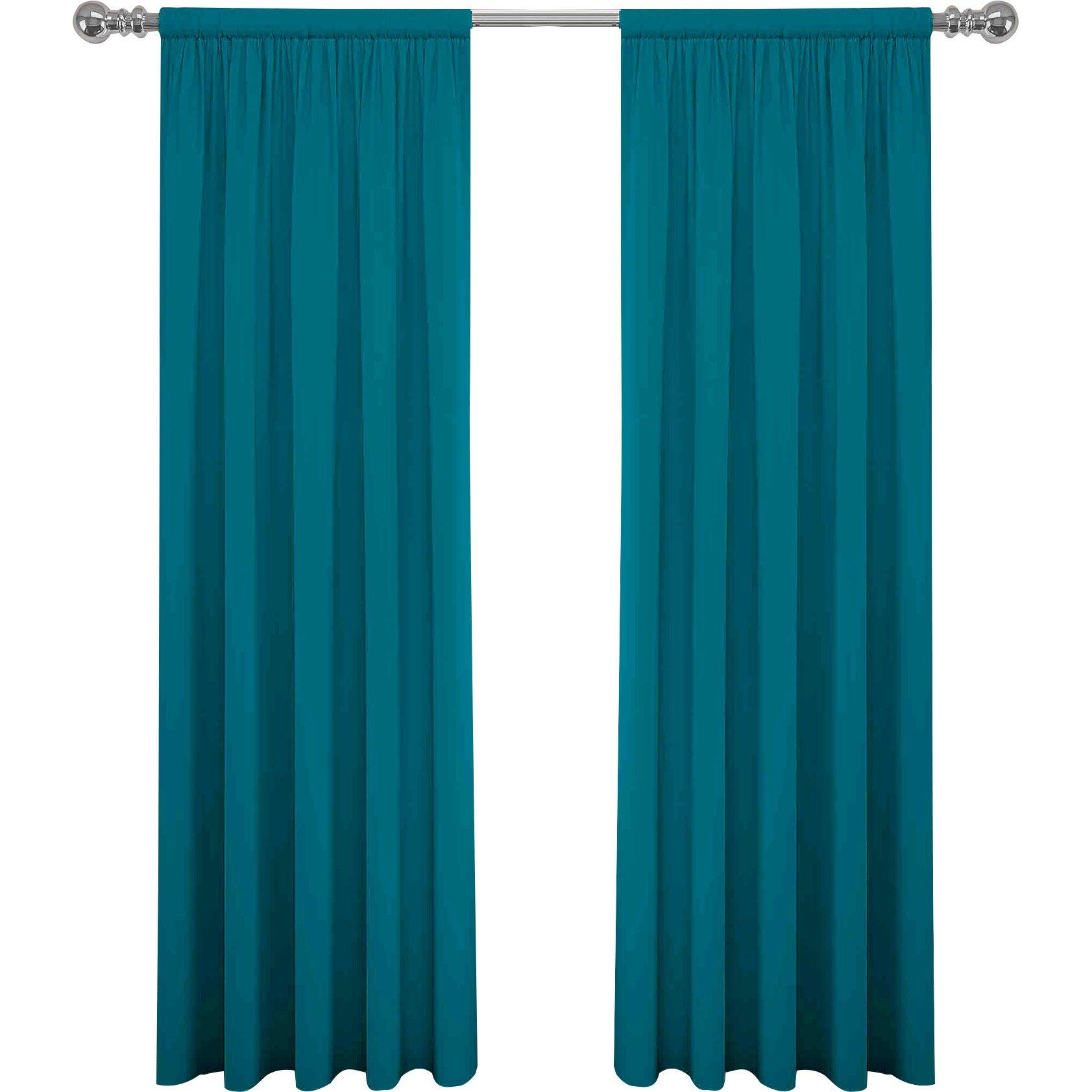 Mercury Row Abdera Solid Semi Sheer Rod Pocket Curtain
