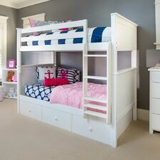 Bunk Bed with 3 Storage Drawer by Jackpot!