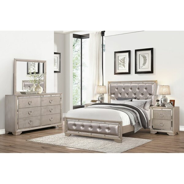 Willa Arlo Interiors Greenwich Panel 5 Piece Bedroom Set | Wayfair
