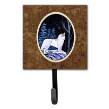 Starry Night Siberian Husky Leash Holder and Wall Hook by Caroline's Treasures