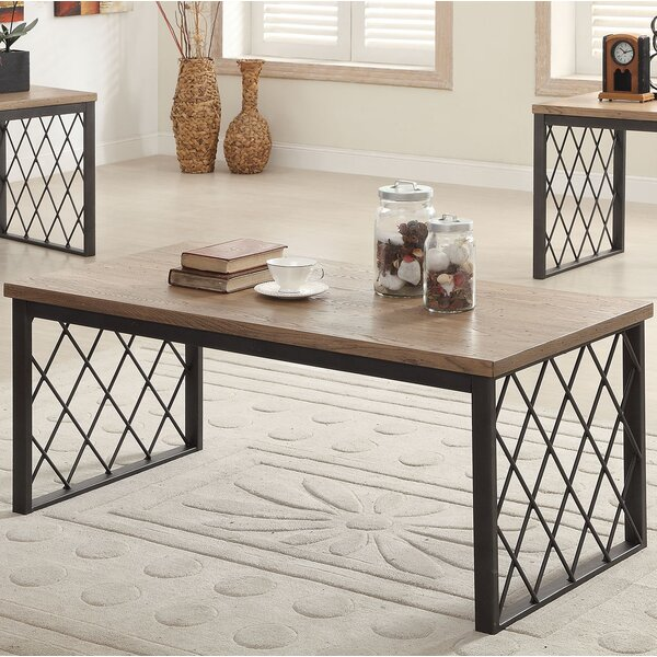 acme furniture catalina 3 piece coffee table set & reviews | wayfair