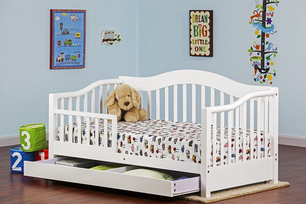 dream on me toddler bed with storage  reviews  wayfair - defaultname