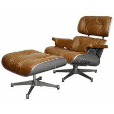 Grayson Lounge Chair and Ottoman by New Pacific Direct