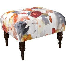Floral Tufted Cocktail Ottoman by One Allium Way
