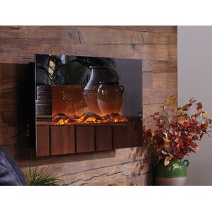 Mirror Onyx™ Wall Mount Electric Fireplace  Wall Electric Fireplace
