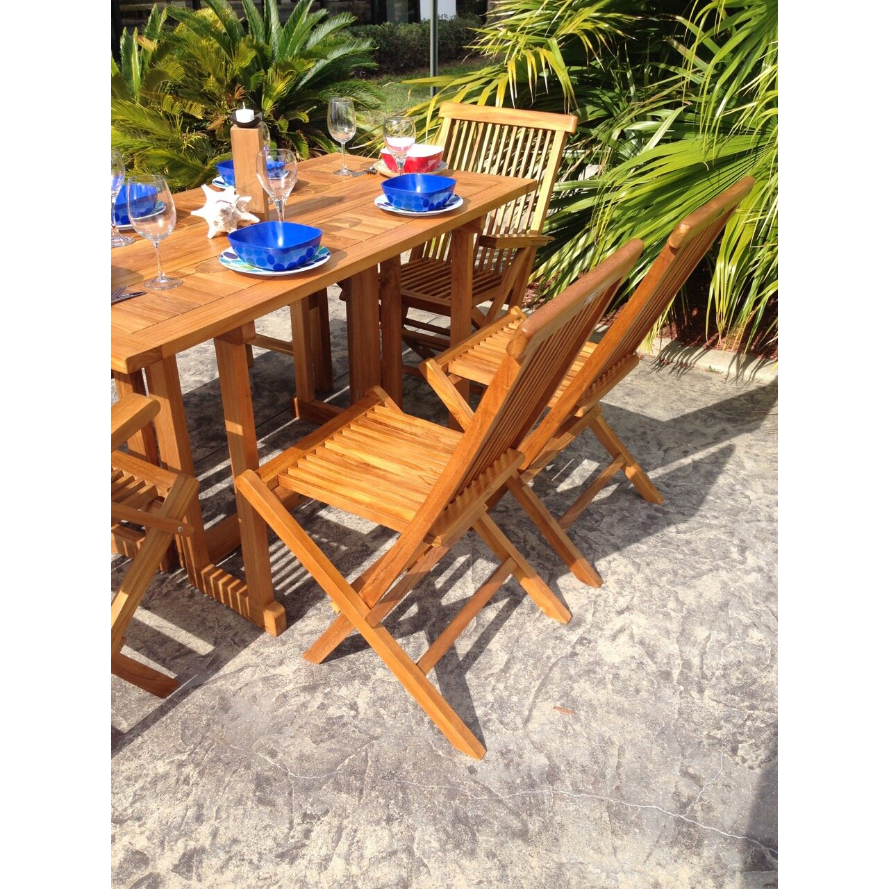 ChicTeak California Folding Dining Arm Chair & Reviews | Wayfair