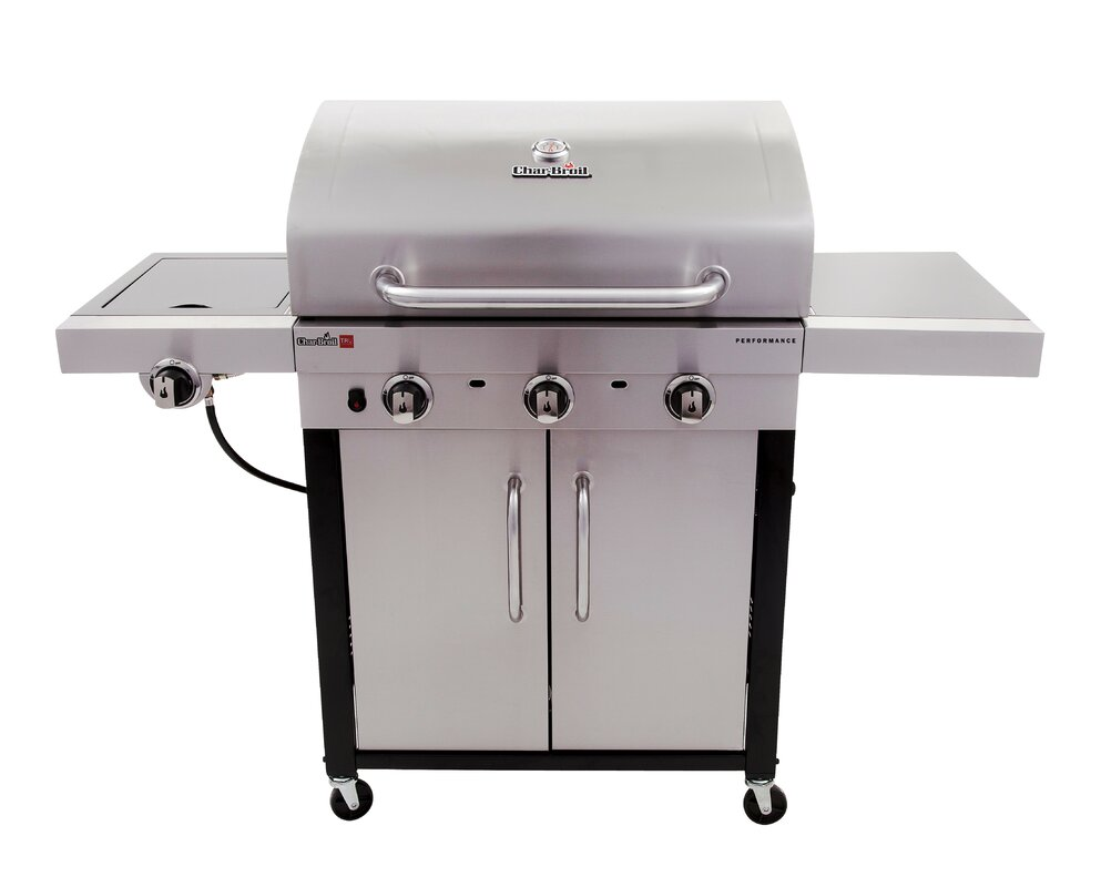 Performance 3 Burner Propane Gas Grill With Cabinet