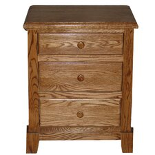 3 Drawer Nightstand by Forest Designs