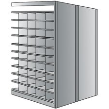 Deep Bin 87 H 11 Shelf Shelving Unit Add-on by Hallowell