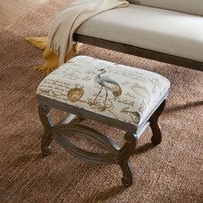 Condon Exposed Wood Ottoman by Loon Peak