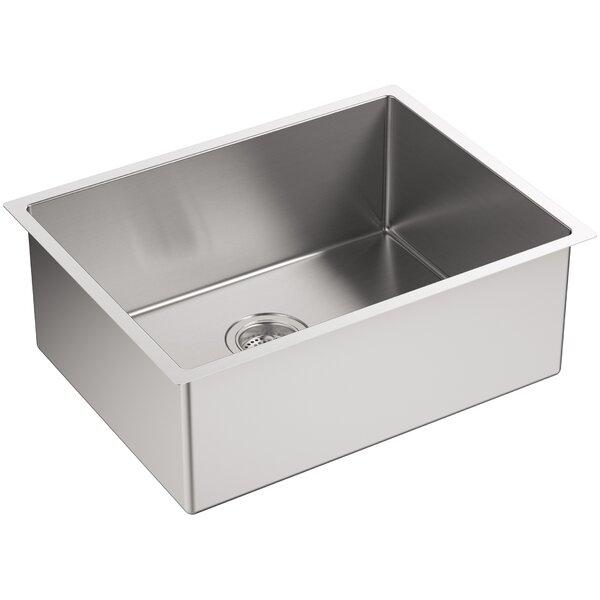 Kohler Strive 24 X 18 1 4 X 9 5 16 Under Mount Single Bowl Kitchen Sink With Basin Rack Reviews Wayfair