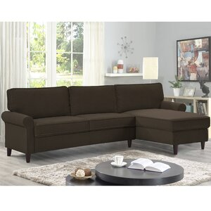 Miltown Brick And Barrel Reversible Sectional by Alcott Hill