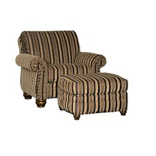 Waltham Chair and Half and Ottoman by Chelsea Home Furniture