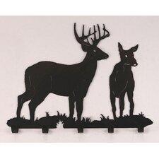 Buck and Doe Coat Rack by Coast Lamp Mfg.