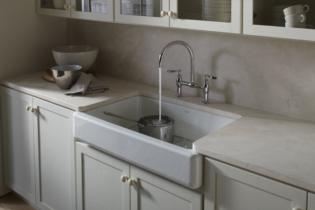 Whitehaven Under Mount Single Bowl Kitchen Sink With Short Apron