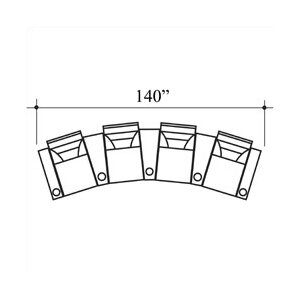 Tristar Home Theater Lounger (Row of 4) by Bass