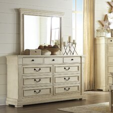 Alsace 9 Drawer Dresser with Mirror by Lark Manor